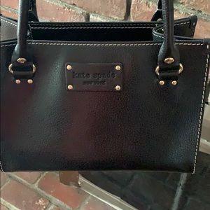 Black leather Kate Spade handbag